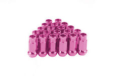 CPR OPEN ENDED 17HEX STEEL WHEELS LUG NUTS PINK 20 PCS 12X1.5MM 48MM