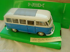 miniature VW T1 bus, bicolore 1:24 Welly volkswagen ref 22095w combi  1963