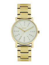 DKNY NY2417 SOHO GOLD TONE WOMEN'S STAINLESS STEEL WATCH  -- 2 YRS WARRANTY