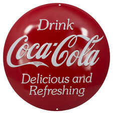 Ande Rooney Coca-Cola Button Tin Sign # 2180181