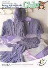 UKHKA 42 Baby Cardi Jacket Hat Knitting Pattern 0-6YRS