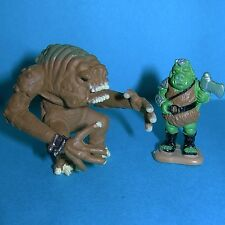 STAR WARS Micro Machines GAMORREAN GUARD & RANCOR Monster 2 Figures Lot 1""