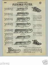 1932 PAPER AD Flexible Flyer Kalamazoo Steering Snow Sled