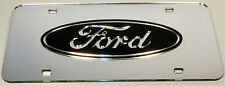 Ford Chrome Mirror License Plate Auto Tag F-150 Truck Diesel