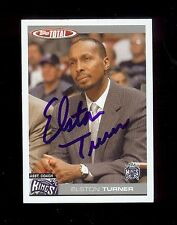 ELSTON TURNER 2005 Topps Total - Sacramento Kings - SIGNED AUTOGRAPH Card