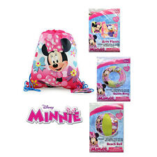Disney Minnie Mouse Sling Backpack - Swim Ring Tube + Arm Floats + Beach Ball