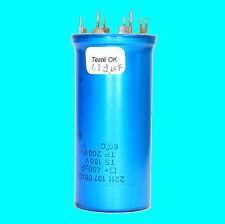 CONDENSATEUR ELECTROLYTIQUE DE FILTRAGE VINTAGE 400µF TS 180V TP 200V IMPL CI