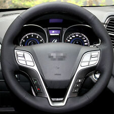 Leather Steering Wheel Cover for 2013 2014 2015 2017 Hyundai Santa Fe 4dr SUV