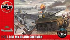 Airfix 03301 WWII Landing Craft & Sherman Tank 1/76 Scale Plastic Model Kits