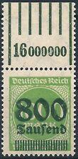 Ziffer im Kreis MiNr. 308Aa vom Walzenoberrand -/1'5'1 von Feld 2 postfrisch