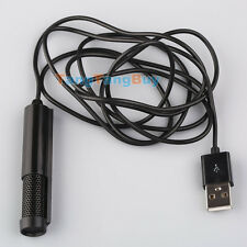 Black Computer Studio USB 2.0 Condenser Microphone Mic For Laptop PC Chatting