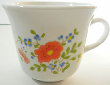 Corning Corelle Wildflower Coffee Cup White Orange Yellow Green Blue Floral