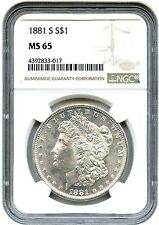 1881 S Morgan Silver Dollar GRADED MS 65 BY NGC