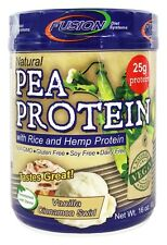Fusion Diet Systems - Natural Pea Protein With Rice and Hemp Protein Vanilla