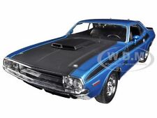 1970 DODGE CHALLENGER T/A  BLUE 1:24 DIECAST MODEL CAR  BY WELLY 24029