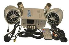 complete Bluetooth 600 watt motorcycle boat snowmobile Stereo system audio