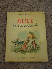 Vintage Lewis Carroll Alice In Wonderland Illustrated Book by Maraja