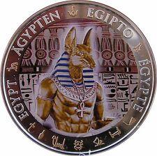 Anubis Dorado Antiguo Egipto $1 Moneda De Plata prueba 2012 Fiji