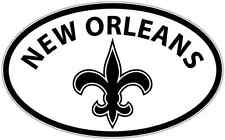 """New Orleans Louisiana State City USA Oval Car Bumper Window Sticker Decal 6""""X4"""""""