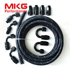 AN4 AN-4 -4 Stainless Steel Nylon Braided Oil Fuel line Hose End Adaptor Kit BB