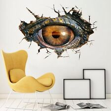 3D Big Dinosaur's Eye Wall Sticker Decal Art Decor PVC Home Room Door Mural Prop
