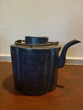 Exquisite Antique chinese pewter teapot, details, heavy #2 [Y8-W7-A9-E9]