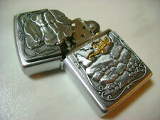ZIPPO ACCENDINO LIGHTER  LIZARD ROCK  CON PLACCA  2007  BELLISSIMO NEW