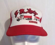 Red And White Auburn J.M.Lentz Trucker Hat Adjustable Snap Back Cap