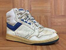 Vintage�� PONY Chevron MVP Hi Basketball Sneakers Left 10 Right 9.5 White Blue