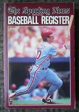 1987 The Sporting News Official Baseball Register - Mike Schmidt Cover