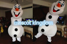 Best Quality Olaf Mascot Costume  Frozen Cosplay Party Dress Adult Free Shipping