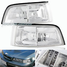 For 91-95 Acura Legend Coupe Chrome Housing Clear Lens Corner Turn Signal Lights