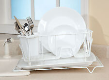 Tilted Dish Rack, White
