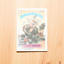 Vintage Garbage Pail Kids 1986 UK Sticker Collector's Card Towin' Owen 237b