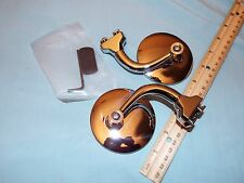 """Pair 3"""" Curved  Outside Door Peep Mirrors, HOT ROD, FORD CHEVY, DODGE,RAT ROD"""