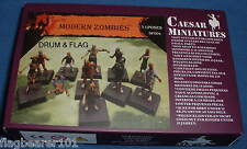 CAESAR #F004 MODERN ZOMBIES - 1:72 SCALE UNPAINTED FIGURES - 11 POSES.