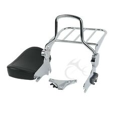 Detachable Chrome Backrest Sissy Bar With Luggage Rack For 94-08 Harley Touring