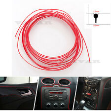 New 16Ft 480cm Red Chrome Car DIY Interior Moulding Trim Decorative Strip Line