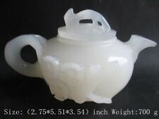 100% of Afghanistan jade teapot, hand carved plum blossom lotus leaf hip flask