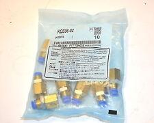 NOS SMC Singapore CONNECTORS KQE06-02 FITTING BULKHEAD pkg of 10 Retail $66