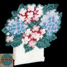 Plastic Canvas Kit Design Works Hydrangea Flowerbox Door Stop #DW1164 OOP SALE!