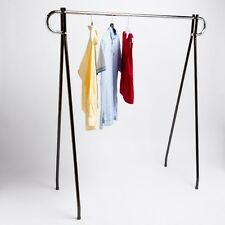 "48"" Economical Clothing Clothes Garment Retail Display Single Bar Racks"
