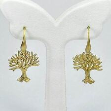 2.89 Grams Brass Yellow Gold Plated Earrings Tree Design Unique
