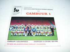 CAMBUUR VAN DIJK BROTHERS & HORECABAND * RARE CD SINGLE KAMPIOEN 1991 / 1992 *