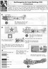Blue Rider Decals 1/72 1919 RED HUNGARIAN AIR CORPS
