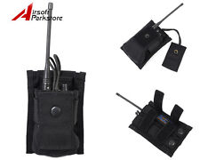 Tactical 1000D Molle Belt Waist Radio Pouch Bag Holster Hunting Military Black