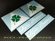 Alfa Romeo Cloverleaf Triangle Sticker Decals 4C 8C GTV GTA Giulia Free Ship