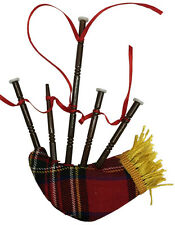"BAGPIPE MUSICAL INSTRUMENT w/CLOTH BAG 5.5"" CHRISTMAS ORNAMENT GIFT BOXED"