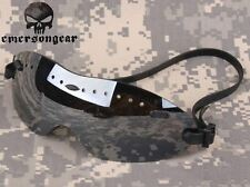 AIRSOFT OPS CORE LOW PROFILE SHOOTING GOGGLES SLIMLINE HELMET GLASSES BLACK TINT