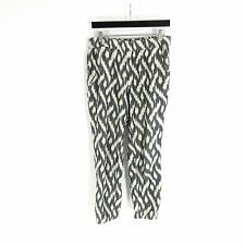 6 - J CREW Gray & Ivory Ikat Patterned SEASIDE Jogger Cotton Pants $90 1017KK